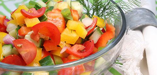 Cucumber, Pepper & Tomato Salad